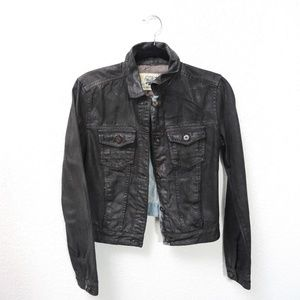Zara Jean Jacket Black/Denim, Size: Medium